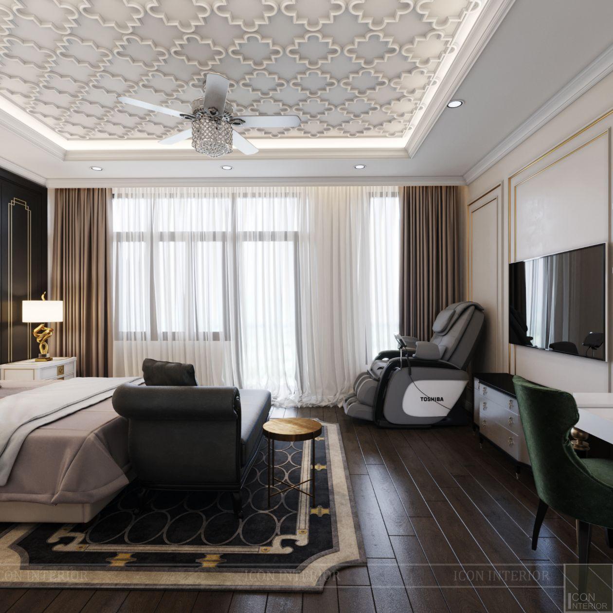thiết kế biệt thự lavila nam sài gòn - phòng ngủ master 3