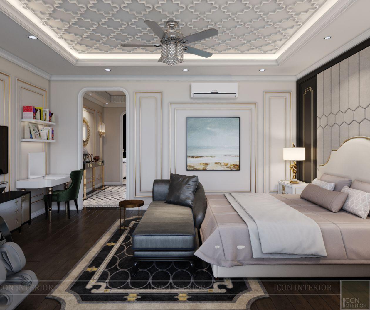 thiết kế biệt thự lavila nam sài gòn - phòng ngủ master 2