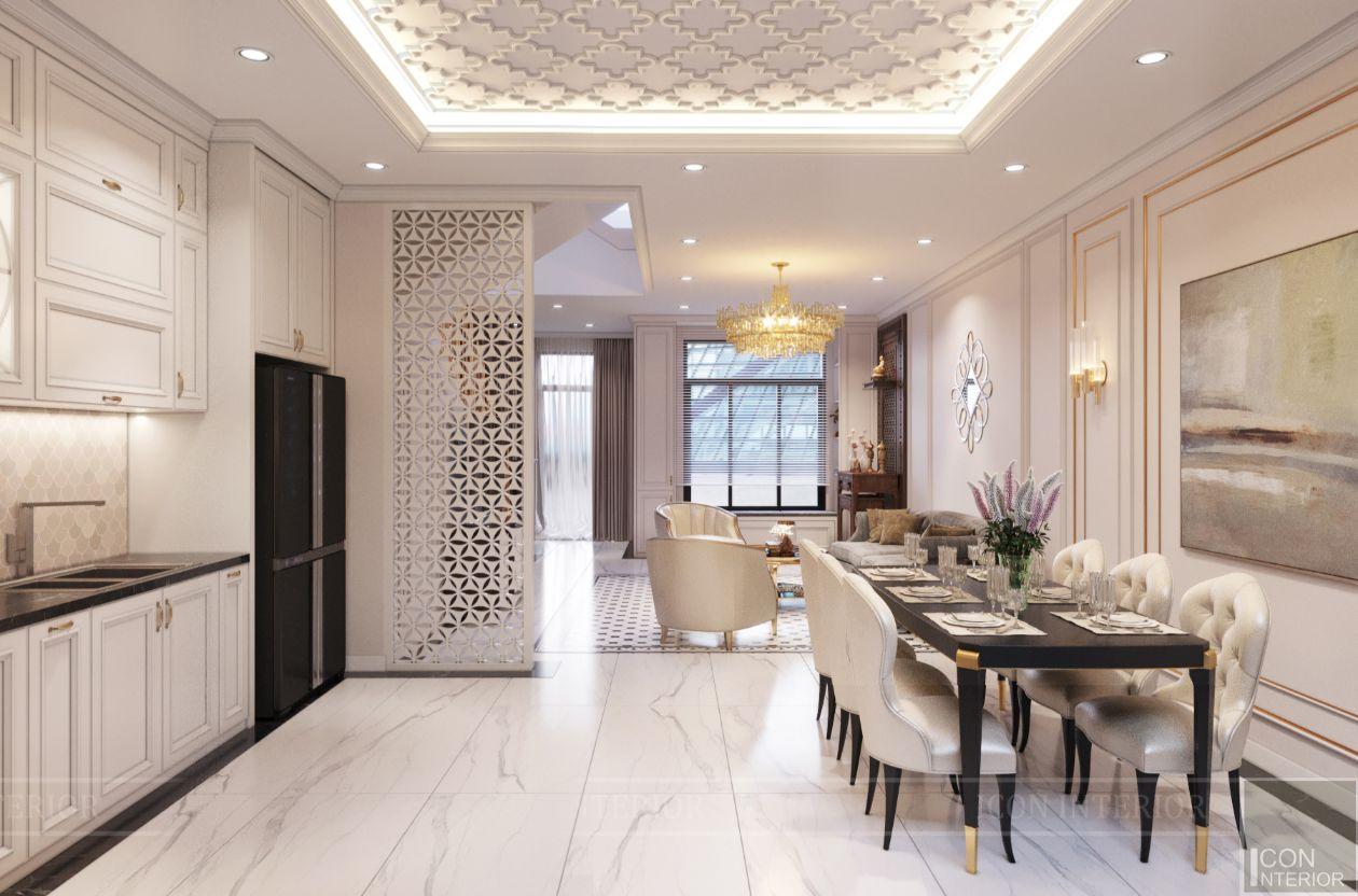 thiết kế biệt thự lavila nam sài gòn - phòng khách bếp 3