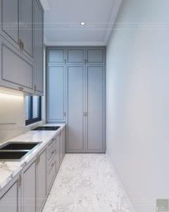 thiết kế nội thất biệt thự sân vườn - phòng bếp 3