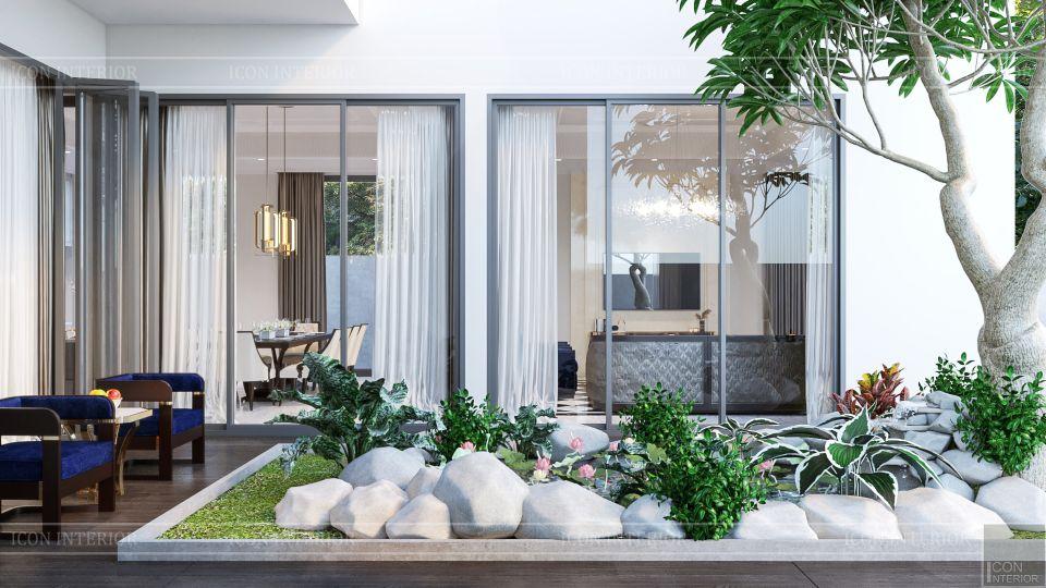 thiết kế nội thất biệt thự sân vườn