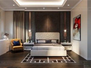 thiết kế nội thất biệt thự sân vườn - phòng ngủ 1
