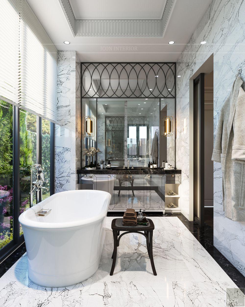 thiết kế nội thất biệt thự sân vườn - phòng tắm 2
