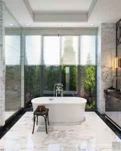 thiết kế nội thất biệt thự sân vườn - phòng tắm 1
