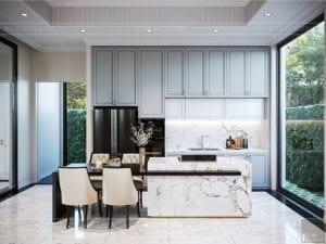 thiết kế nội thất biệt thự sân vườn - phòng bếp 4