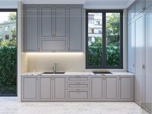 thiết kế nội thất biệt thự sân vườn - phòng bếp 2