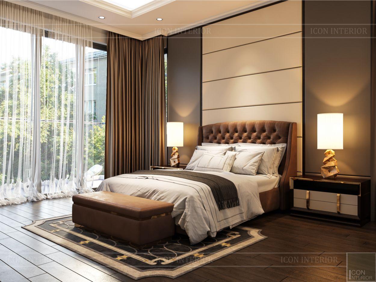 thiết kế nội thất biệt thự sân vườn - phòng ngủ 3