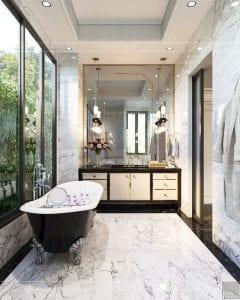 thiết kế nội thất biệt thự sân vườn - phòng tắm 4