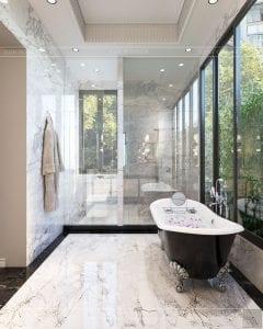 thiết kế nội thất biệt thự sân vườn - phòng tắm 3