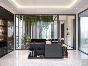 thiết kế nội thất biệt thự sân vườn - phòng thay đồ 2