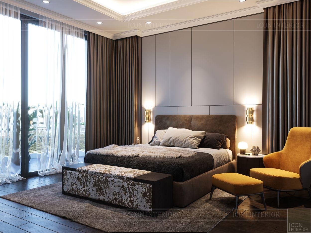 thiết kế nội thất biệt thự sân vườn - phòng ngủ 2