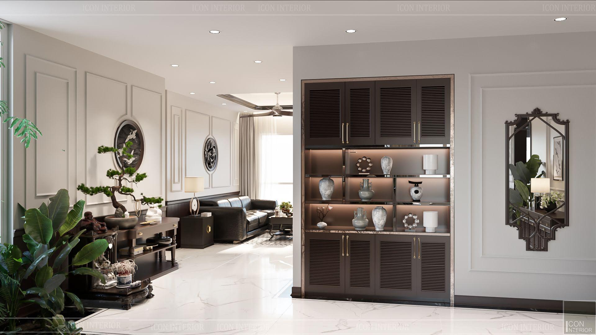thiết kế căn hộ đập thông - phòng khách 2