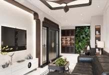 thiết kế căn hộ đập thông - phòng khách 1