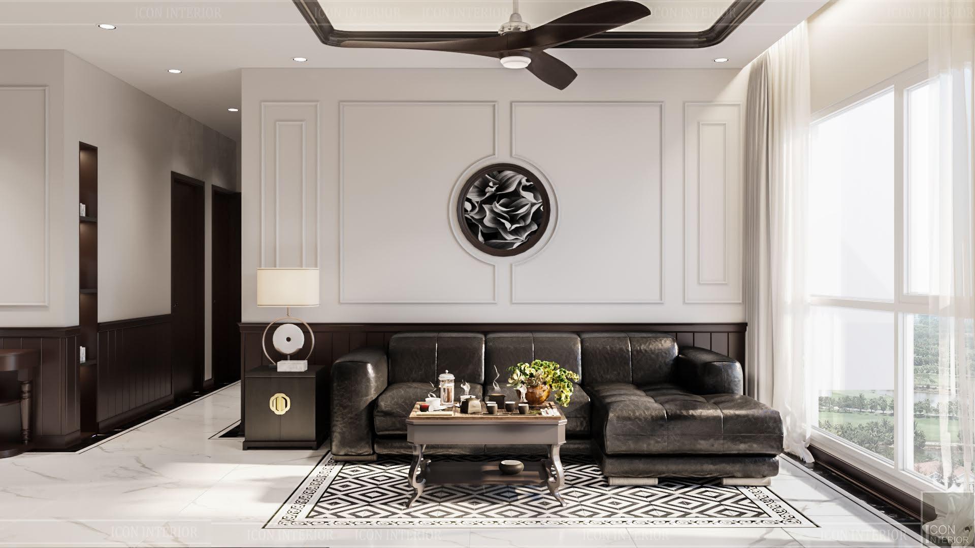thiết kế căn hộ đập thông - phòng khách