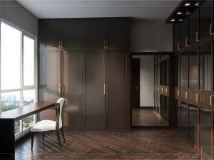 thiết kế căn hộ đập thông - phòng ngủ master 2