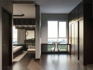 thiết kế căn hộ đập thông - phòng ngủ master 3