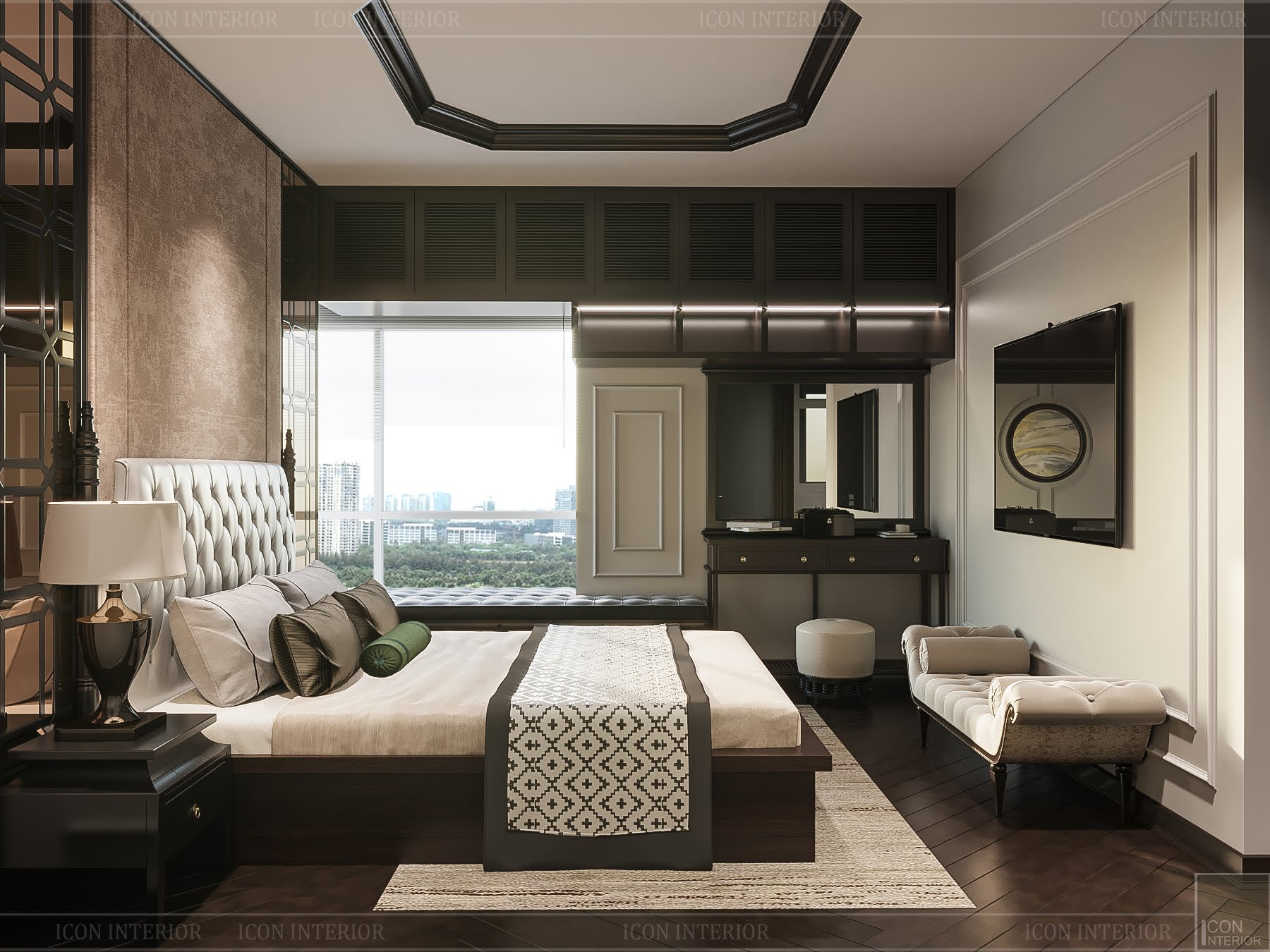 thiết kế căn hộ đập thông - phòng ngủ master 4