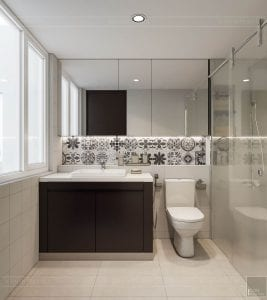 thiết kế căn hộ đập thông - phòng tắm 2