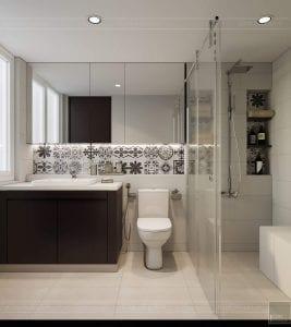 thiết kế căn hộ đập thông - phòng ngủ tắm 3