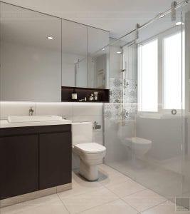 thiết kế căn hộ đập thông - phòng tắm 1