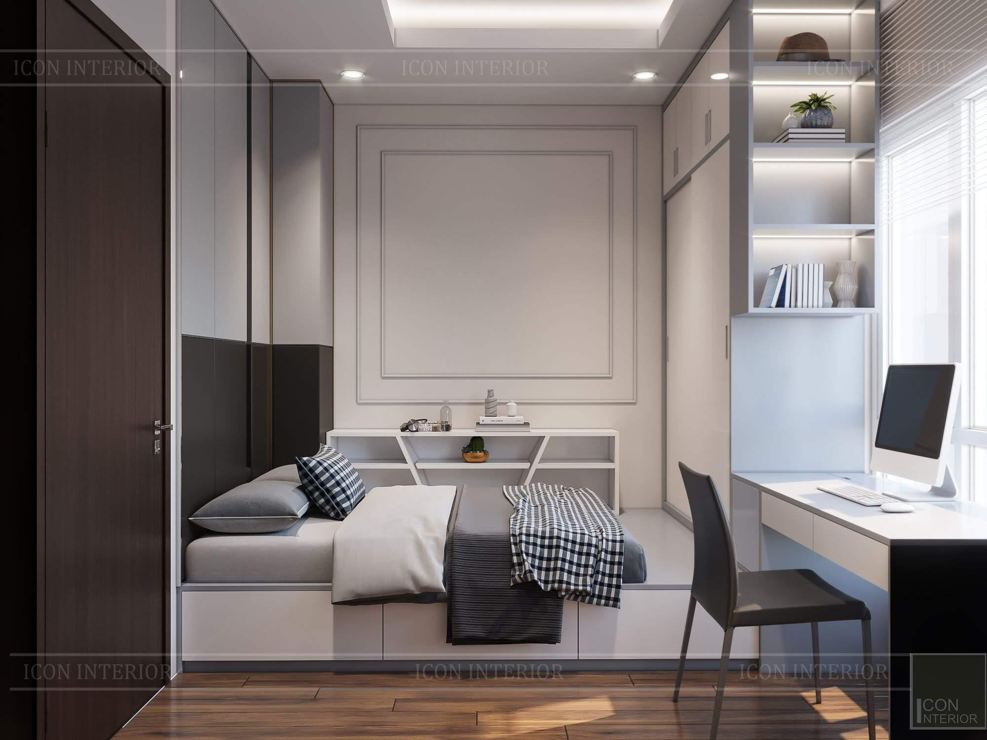 thiết kế căn hộ đập thông - phòng ngủ bé trai