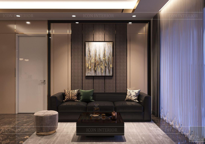 Thiết kế nội thất căn hộ Saigon Royal Residence - phòng khách