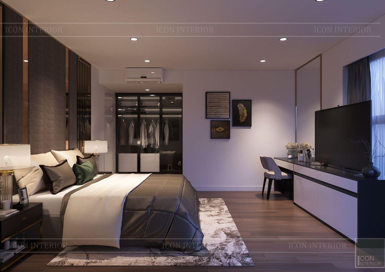 Thiết kế nội thất căn hộ Saigon Royal Residence - phòng ngủ master