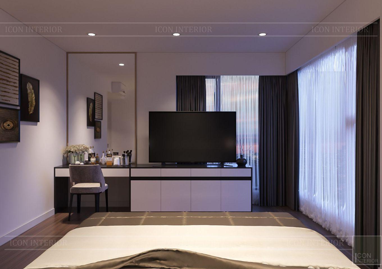 Thiết kế nội thất căn hộ Saigon Royal Residence - phòng master