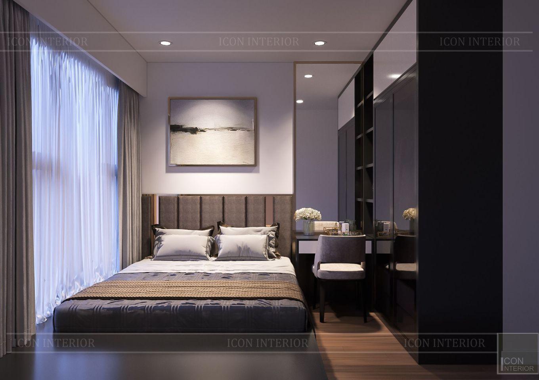 Thiết kế nội thất căn hộ Saigon Royal Residence - phòng ngủ nhỏ