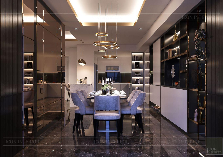 Thiết kế nội thất căn hộ Saigon Royal Residence - phòng ăn