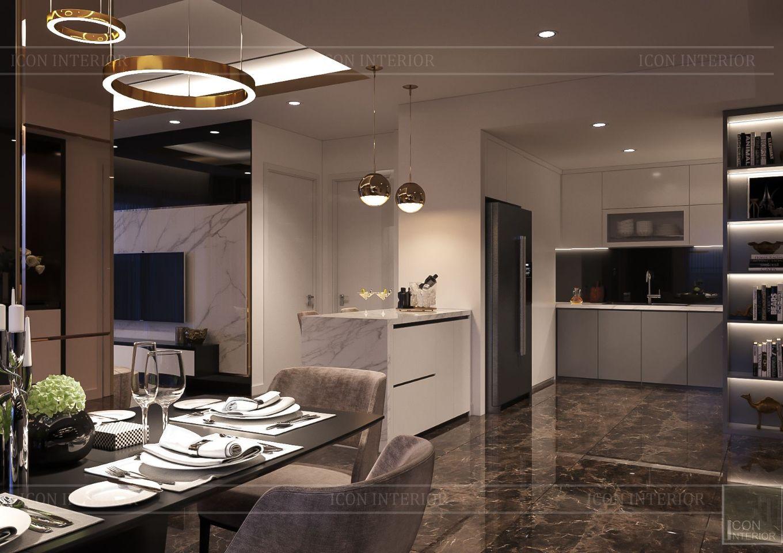 Thiết kế nội thất căn hộ Saigon Royal Residence - phòng bếp