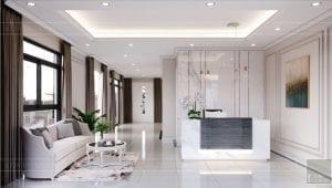 thiết kế nội thất nhà phố tân cổ điển - phòng khách