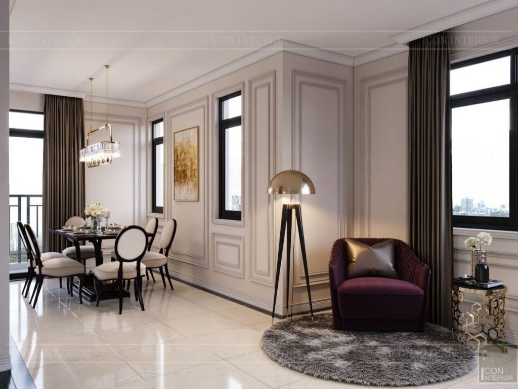 thiết kế nội thất nhà phố tân cổ điển - không gian sinh hoạt 5