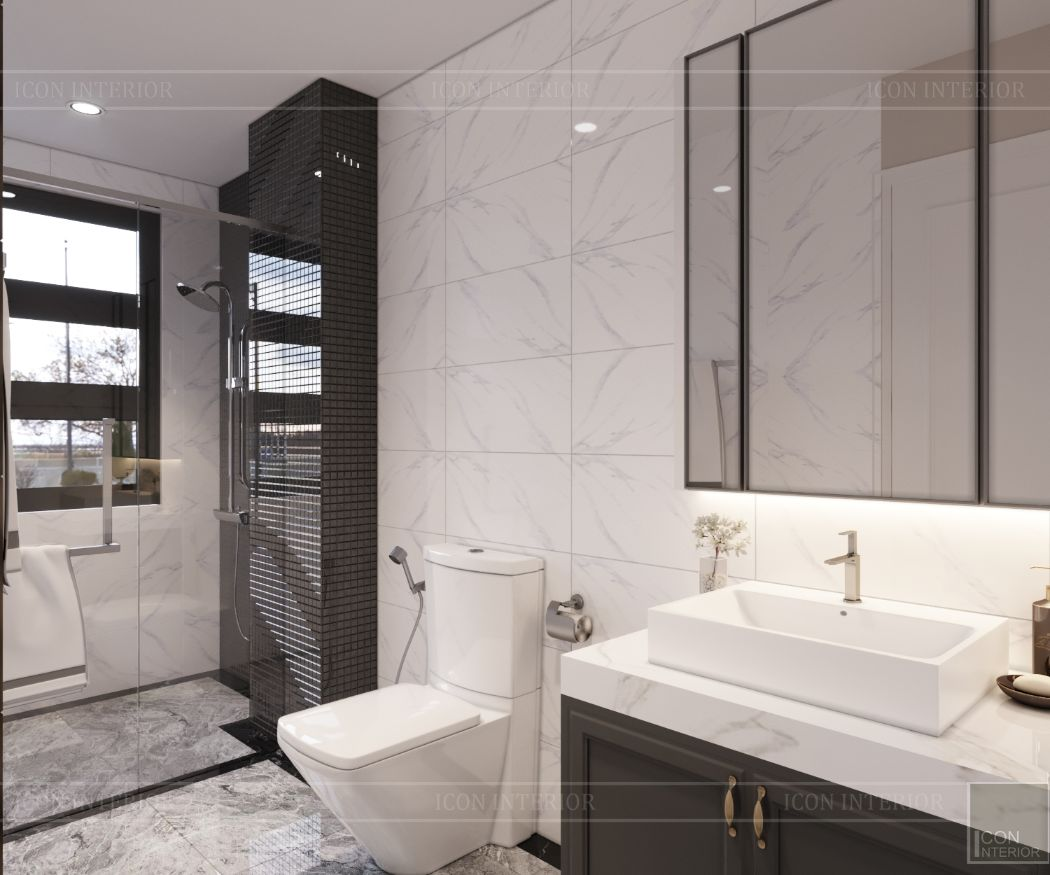 thiết kế nội thất nhà phố tân cổ điển - phòng tắm 4