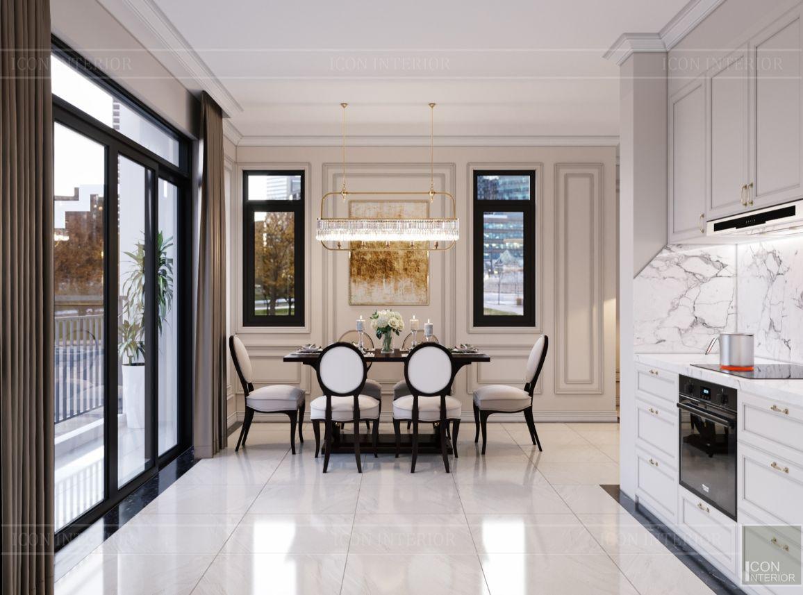 thiết kế nội thất nhà phố tân cổ điển - phòng ăn 2