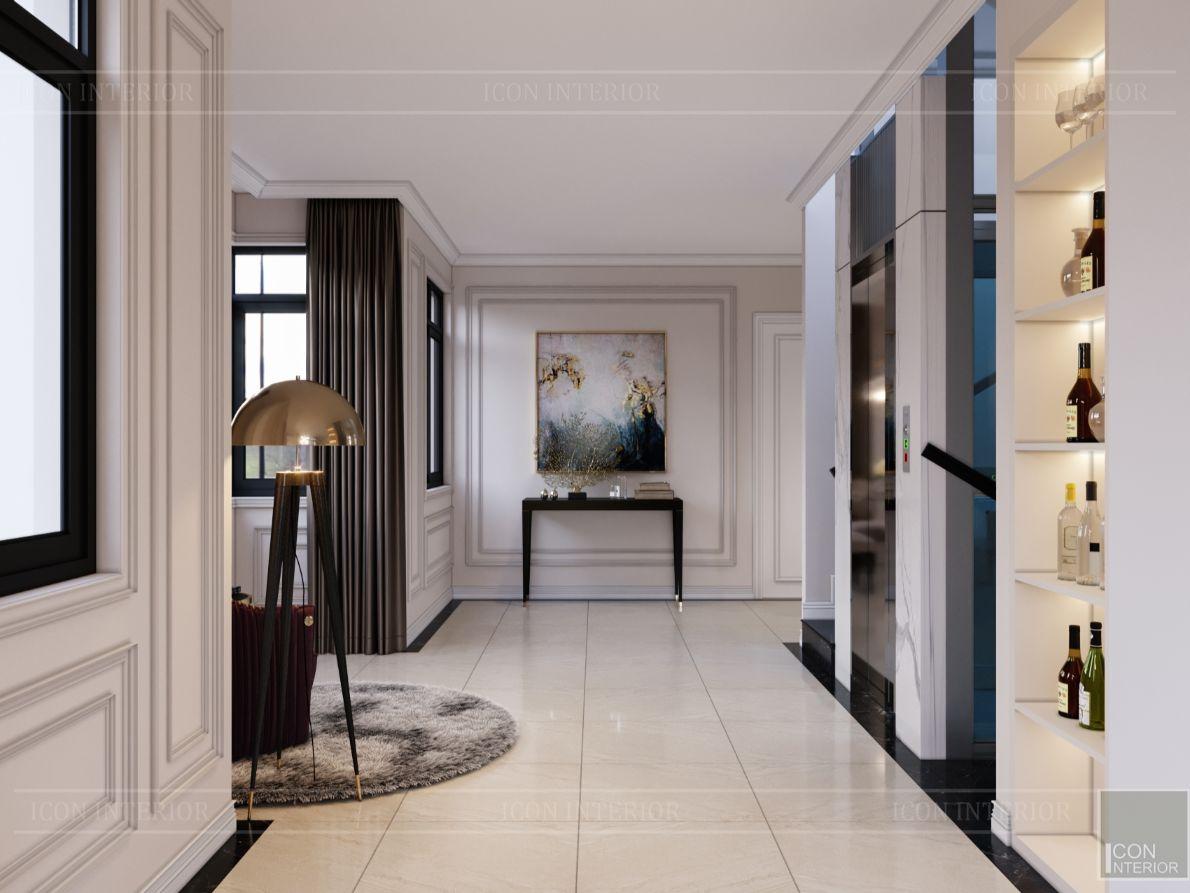 thiết kế nội thất nhà phố tân cổ điển - không gian sinh hoạt 4