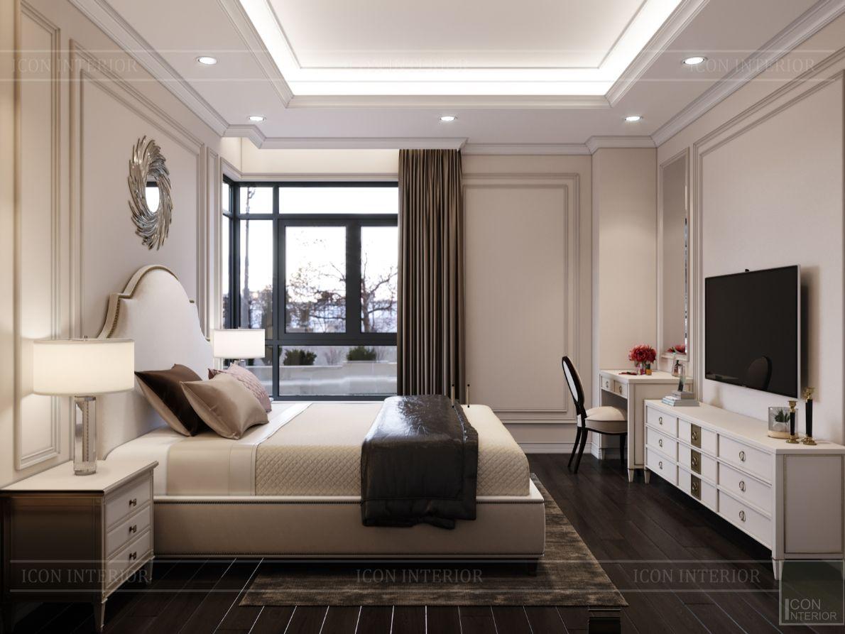 thiết kế nội thất nhà phố tân cổ điển - phòng ngủ 14
