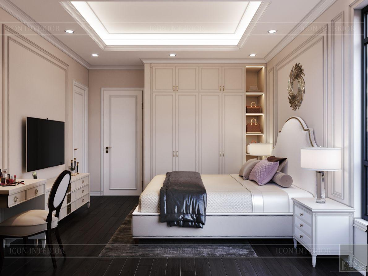 thiết kế nội thất nhà phố tân cổ điển - phòng ngủ 12