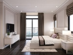 thiết kế nội thất nhà phố tân cổ điển - phòng ngủ 8