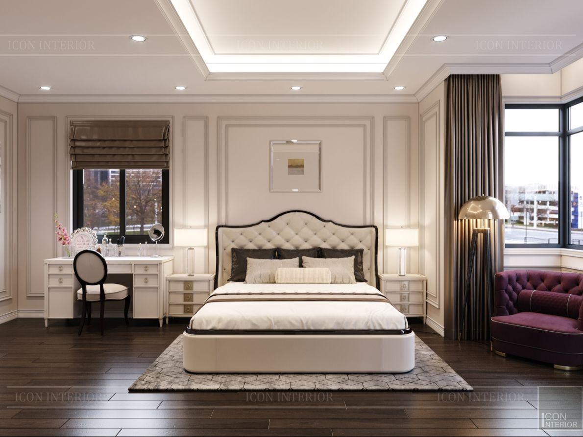 thiết kế nội thất nhà phố tân cổ điển - phòng ngủ 9