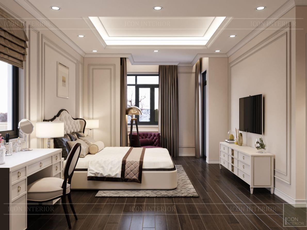 thiết kế nội thất nhà phố tân cổ điển - phòng ngủ 11