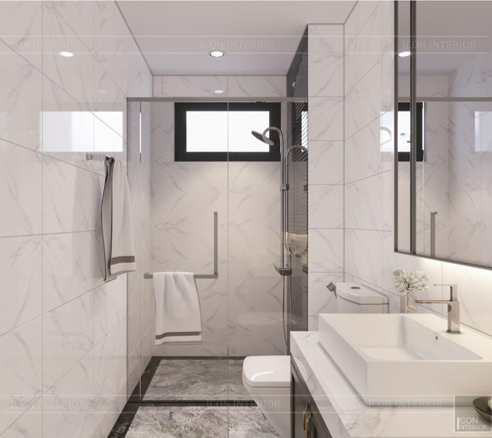 thiết kế nội thất nhà phố tân cổ điển - phòng tắm 3