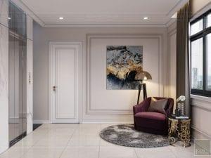 thiết kế nội thất nhà phố tân cổ điển - không gian sinh hoạt 2