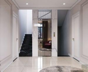 thiết kế nội thất nhà phố tân cổ điển - không gian sinh hoạt 3