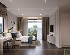thiết kế nội thất nhà phố tân cổ điển - phòng ngủ 6