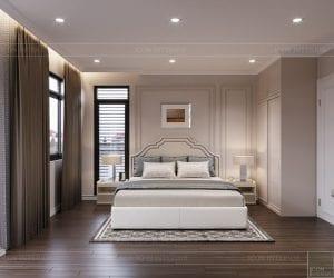 thiết kế nội thất nhà phố tân cổ điển - phòng ngủ 1