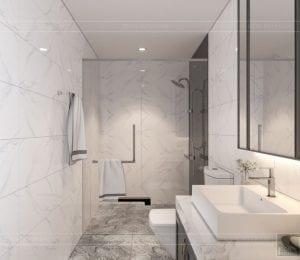 thiết kế nội thất nhà phố tân cổ điển - phòng tắm 1