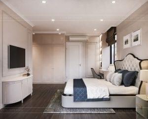 thiết kế nội thất nhà phố tân cổ điển - phòng ngủ 5