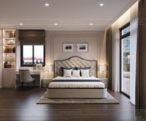 thiết kế nội thất nhà phố tân cổ điển - phòng ngủ 4