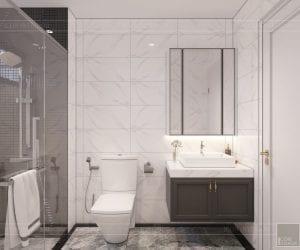 thiết kế nội thất nhà phố tân cổ điển - phòng tắm 2